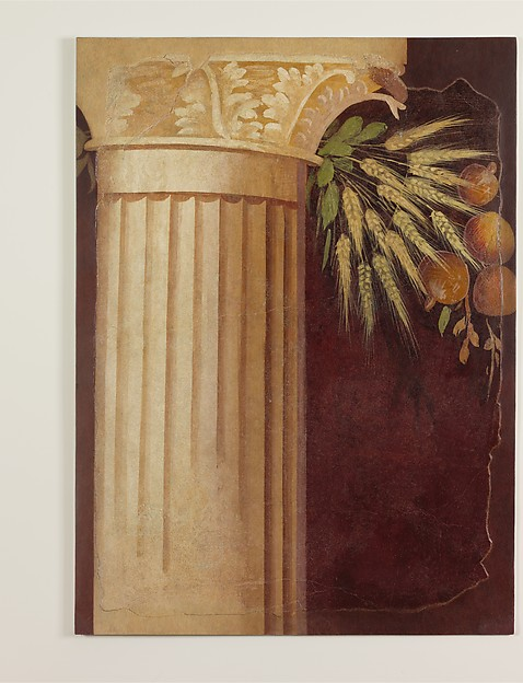 Wall painting fragment from the peristyle of the Villa of P. Fannius Synistor at Boscoreale
