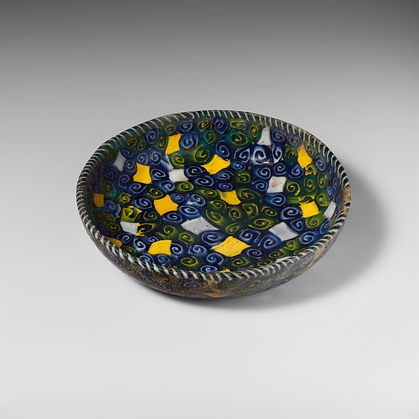 Mosaic glass dish