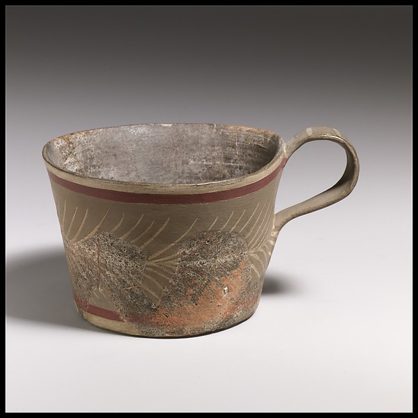 Terracotta straight-sided cup