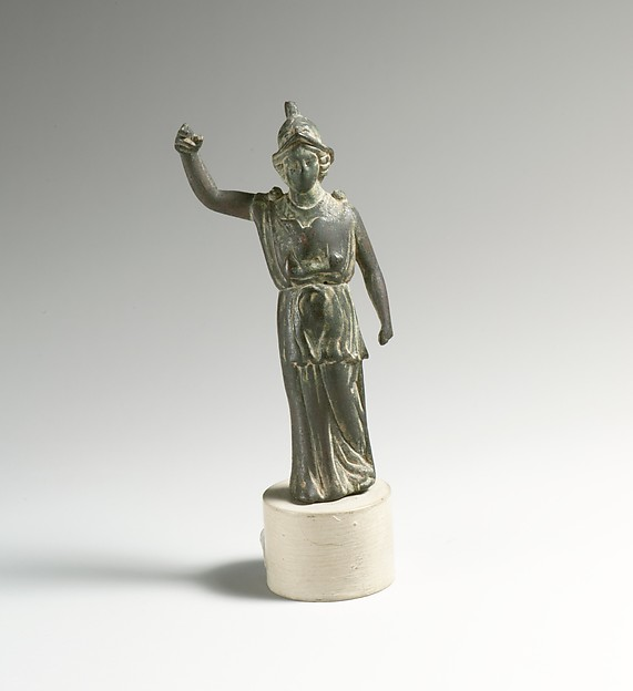 Bronze statuette of Athena