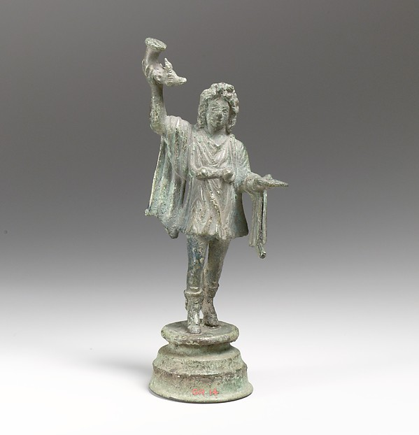 Bronze statuette of a dancing Lar
