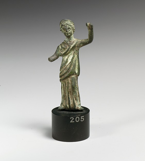 Bronze statuette of a goddess