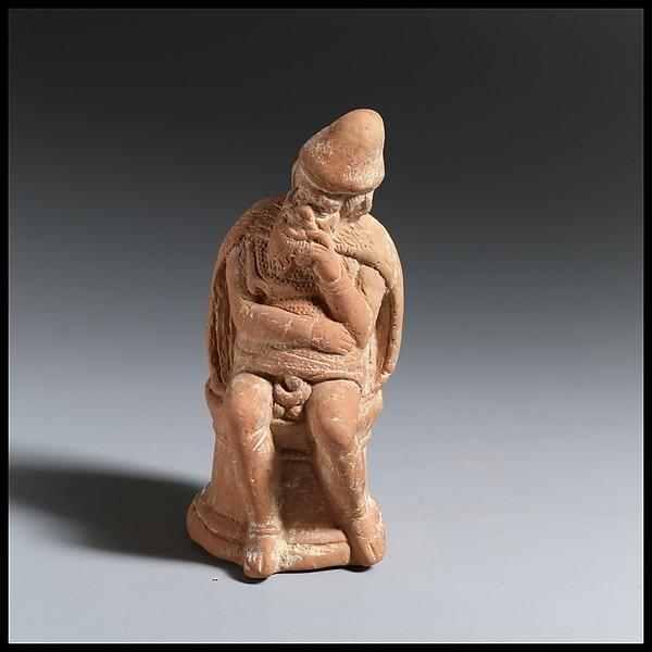 Terracotta statuette of an actor