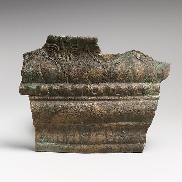 Bronze molding fragment