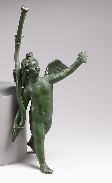 Bronze statuette of Eros running