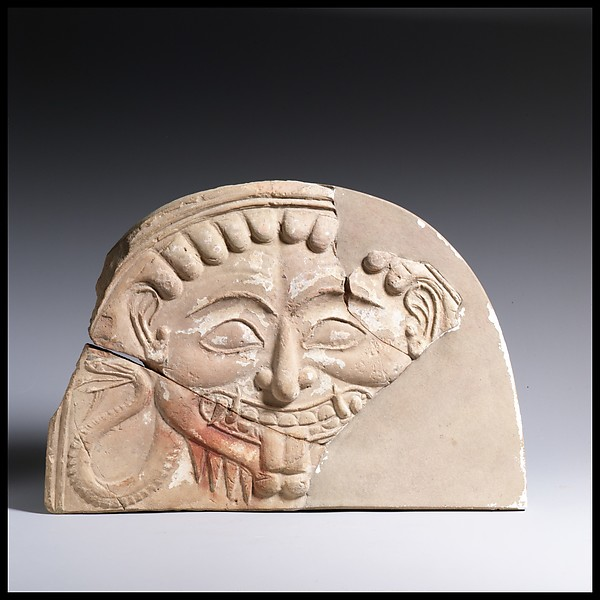 Antefix, head of Medusa