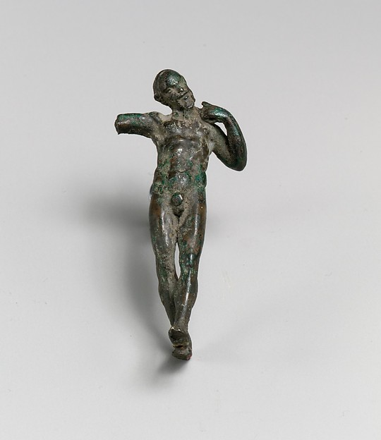 Bronze statuette of a satyr dancing