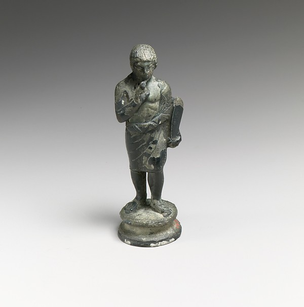 Bronze statuette of a youth