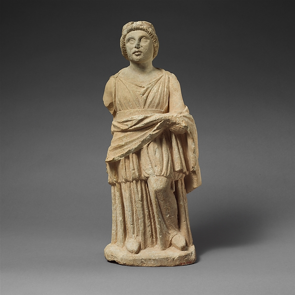 Limestone statuette of Apollo(?)