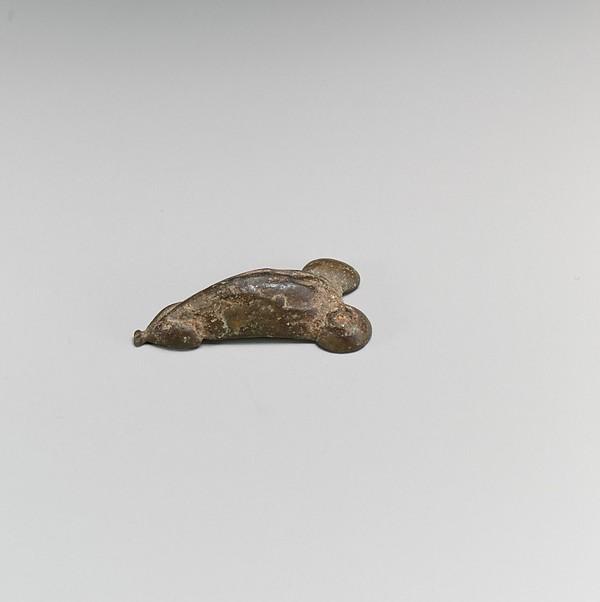 Bronze phallic ornament