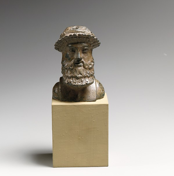 Bronze herm