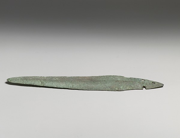Copper alloy dagger blade