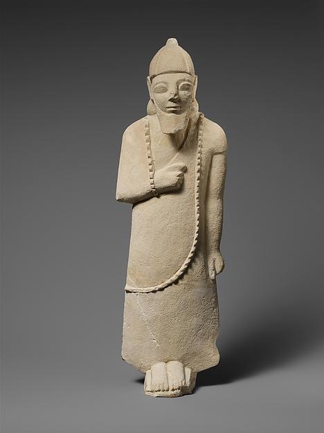Limestone statuette of a male votary