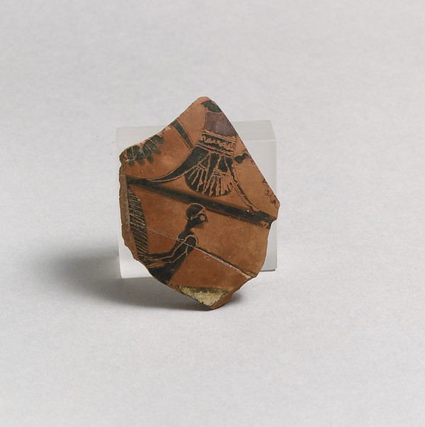 Fragment of a terracotta neck-amphora (jar)