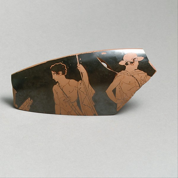 Fragment of a terracotta kylix (drinking cup)