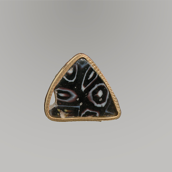Glass mosaic bowl fragment