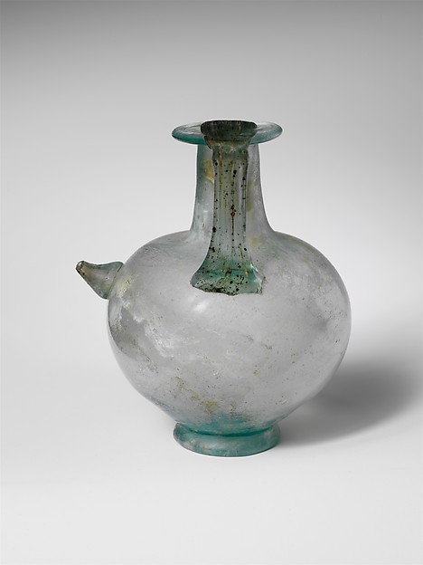 Glass jug with spout