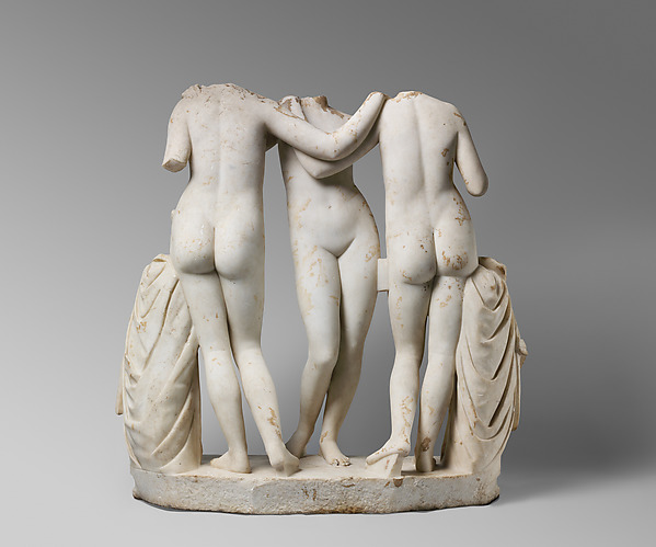 Marble Statue Group of the Three Graces