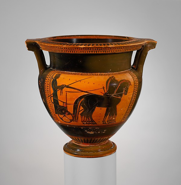 Terracotta column-krater (bowl for mixing wine and water)