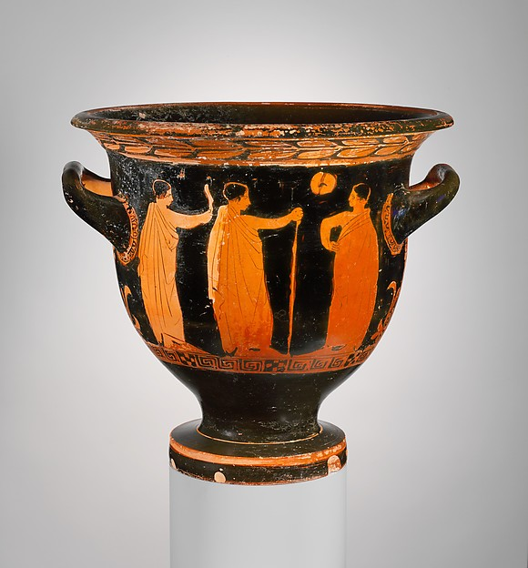 Terracotta bell-krater (bowl for mixing wine and water)