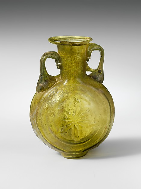 Lentoid glass amphoriskos