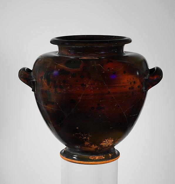 Terracotta stamnos (jar)