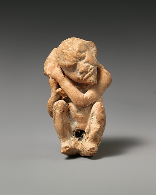 Terracotta caricature of Eros as an old man