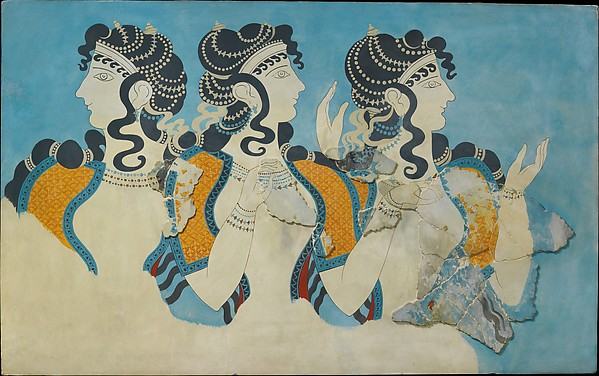 "Reproduction of the ""Ladies in Blue"" fresco"