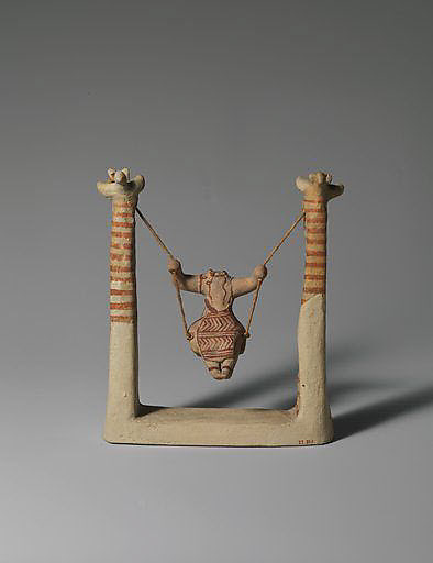 Reproduction of a terracotta figure of a girl on a swing
