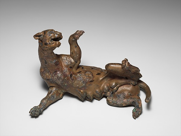Bronze statuette of a panther