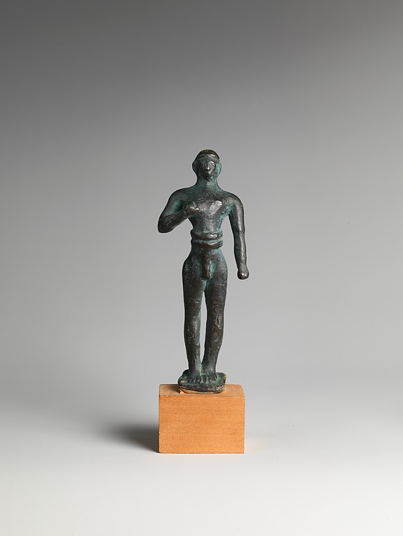 Reproduction of a bronze votive statuette of a man