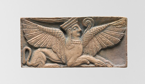 Reproduction of an ivory plaque with a sphinx