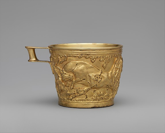 Reproduction of the gold cups from Vapheio