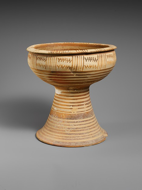 Terracotta footed bowl