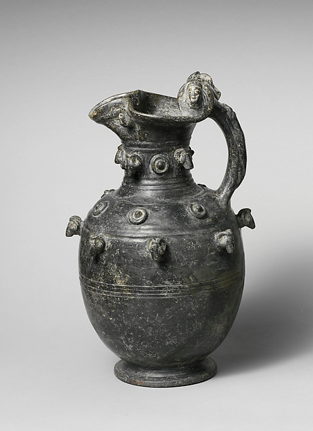 Terracotta trefoil oinochoe (jug)