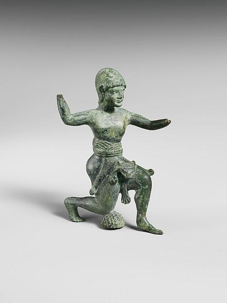 Bronze statuette of Herakles