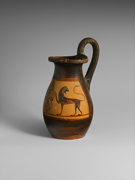 Terracotta olpe (jug)