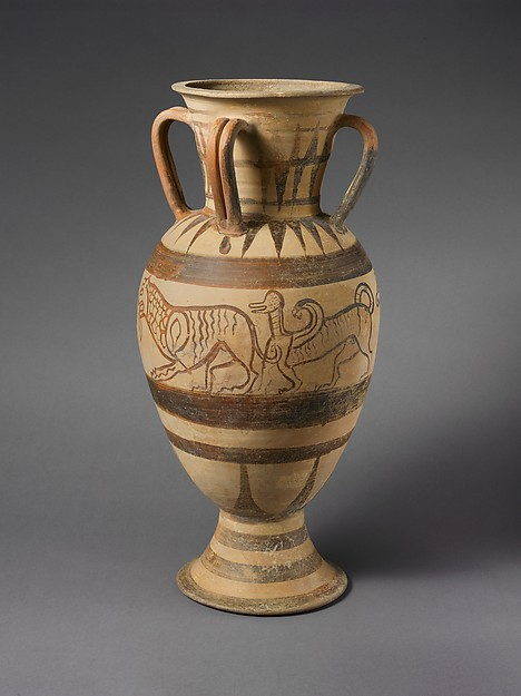 Terracotta four-handled amphora (jar)