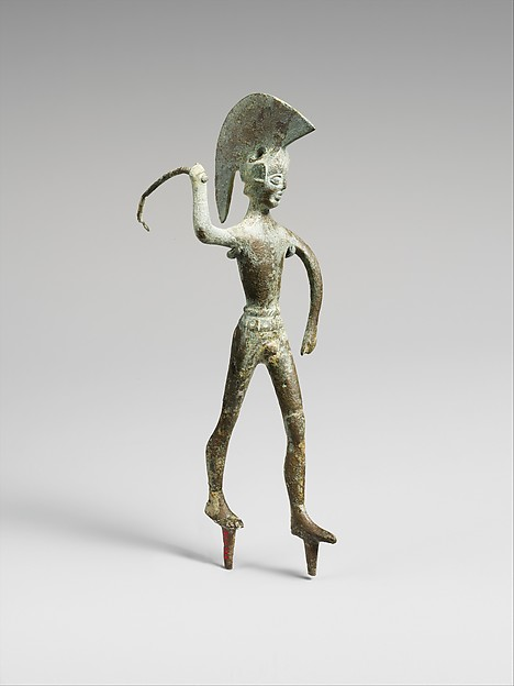 Bronze statuette of a warrior