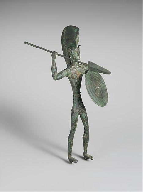 Bronze statuette of a warrior