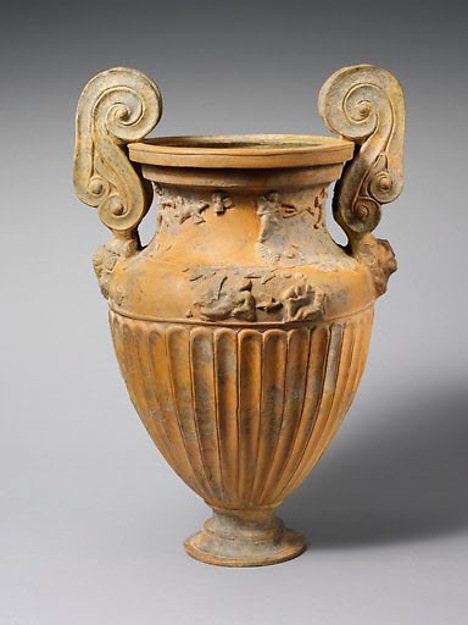 Terracotta volute-krater (container for mixing wine and water)