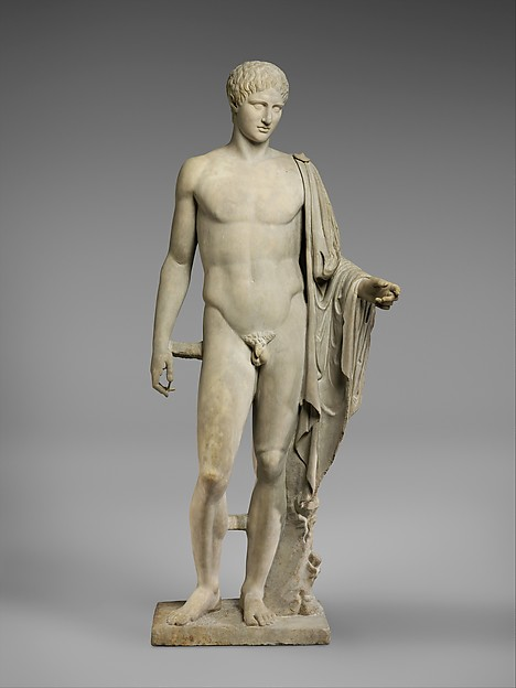 Marble statue of Hermes