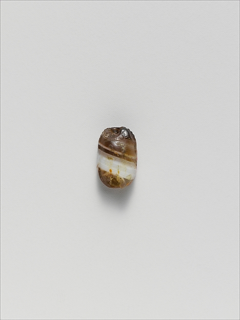 Banded agate scarab