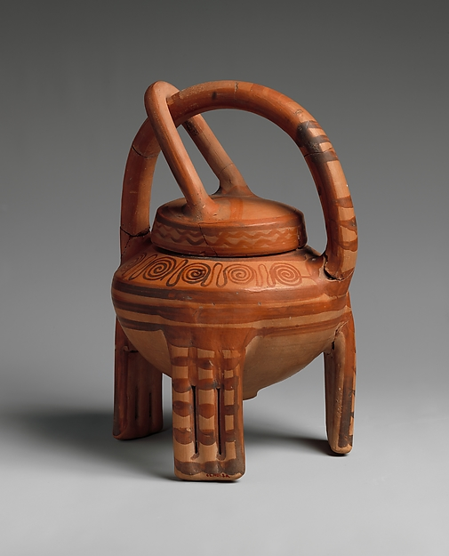 "Terracotta ""basket vase"""