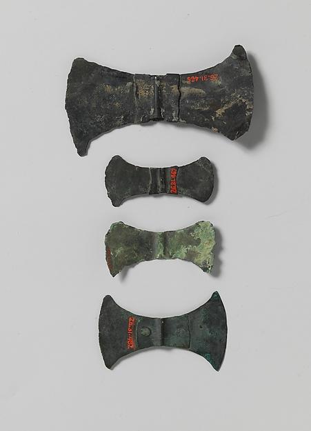 Bronze double-ax head