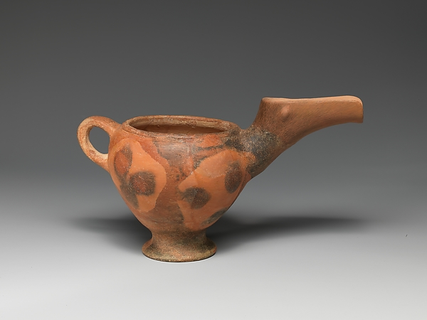 Terracotta beak-spouted jar