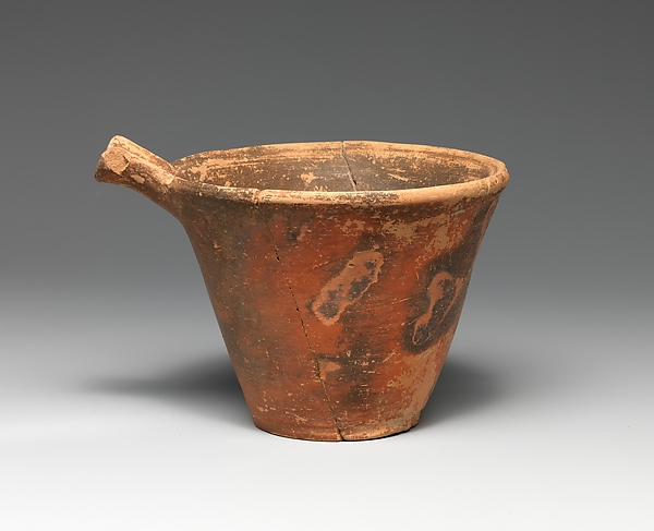 Terracotta spouted cup