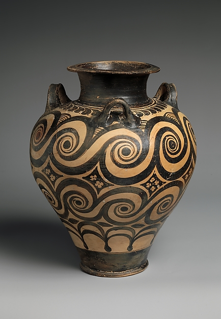 Terracotta jar with three handles