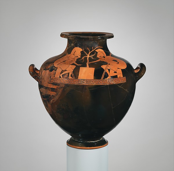 Terracotta hydria: kalpis (water jar)