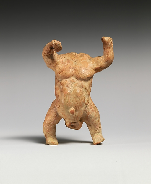 Terracotta Statuette of a Male Dwarf